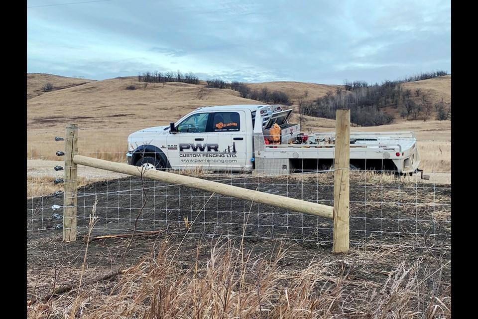PWR's diagonal brace on a hi-tensile field fence (paige wire).