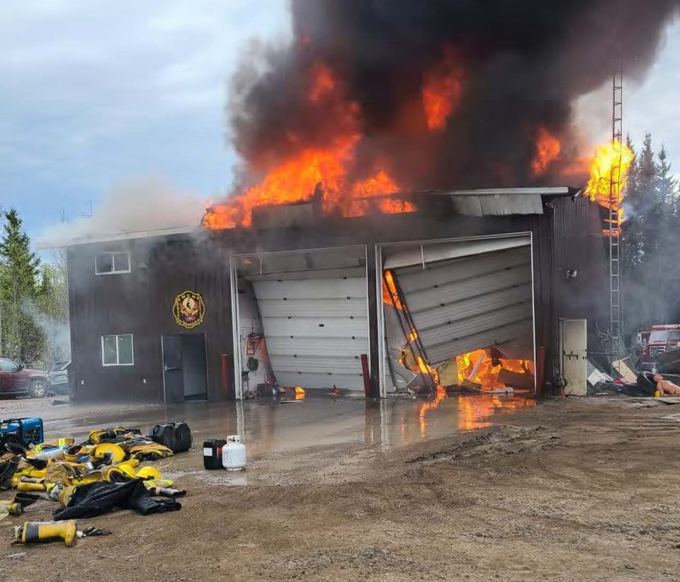 A June 3 fire damaged the fire hall in Nisichawayasihk Cree Nation.