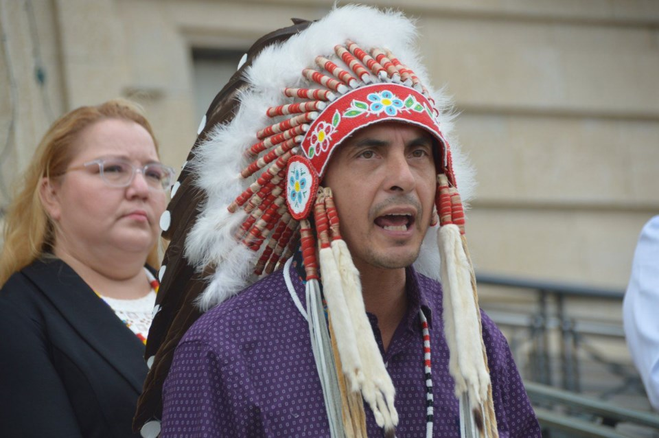 Assembly of Manitoba chiefs grand chief arlen dumas July 19 2021