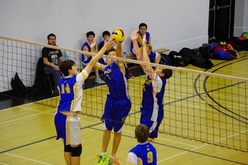 Mel Johnson School Eagles boys volleyball team Oct 2014