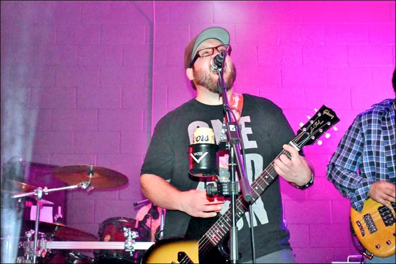 Justin James at the mic. Photos submitted by Kerry Volk
