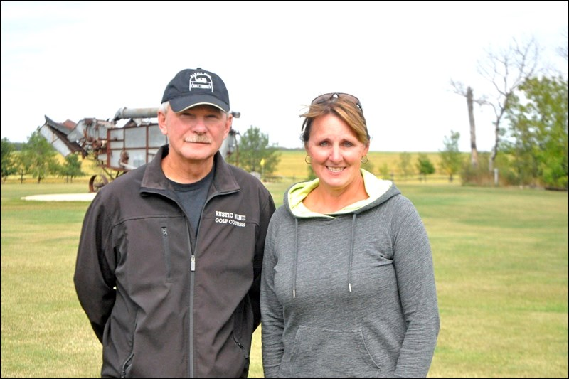 Victor and Elaine Liebaert, proprietors of the Rustic Nine Golf Course, a nine-hole golf course on Rustic Road north of North Battleford.