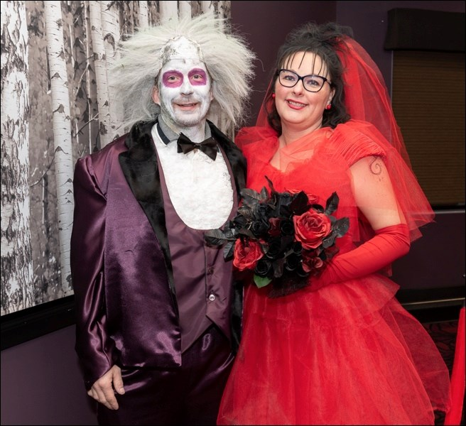 Shawn Wagner (Beetlejuice and Nancy Wagner (Lydia) won the Best Duo Costume prize.