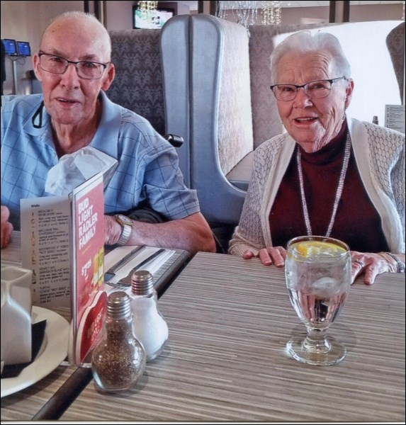 An Enduring Love — On Oct. 22, 1948, William (Bill) Neville married Gwyneth Milburn. William is now 95 and Gwyneth 88. The Battleford residents celebrated their 70th wedding anniversary at Kihiw Restaurant at Gold Eagle Casino. The couple are retired from dairy farming. They farmed in the Iffley, Hatherleigh area.