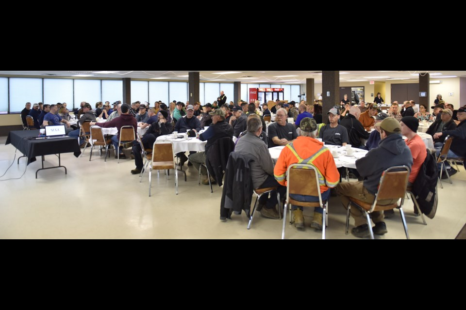 Approximately 120 people attended the Saskatchewan Common Ground Alliance's 30th anniversary contractor safety breakfast in Estevan on Wednesday.