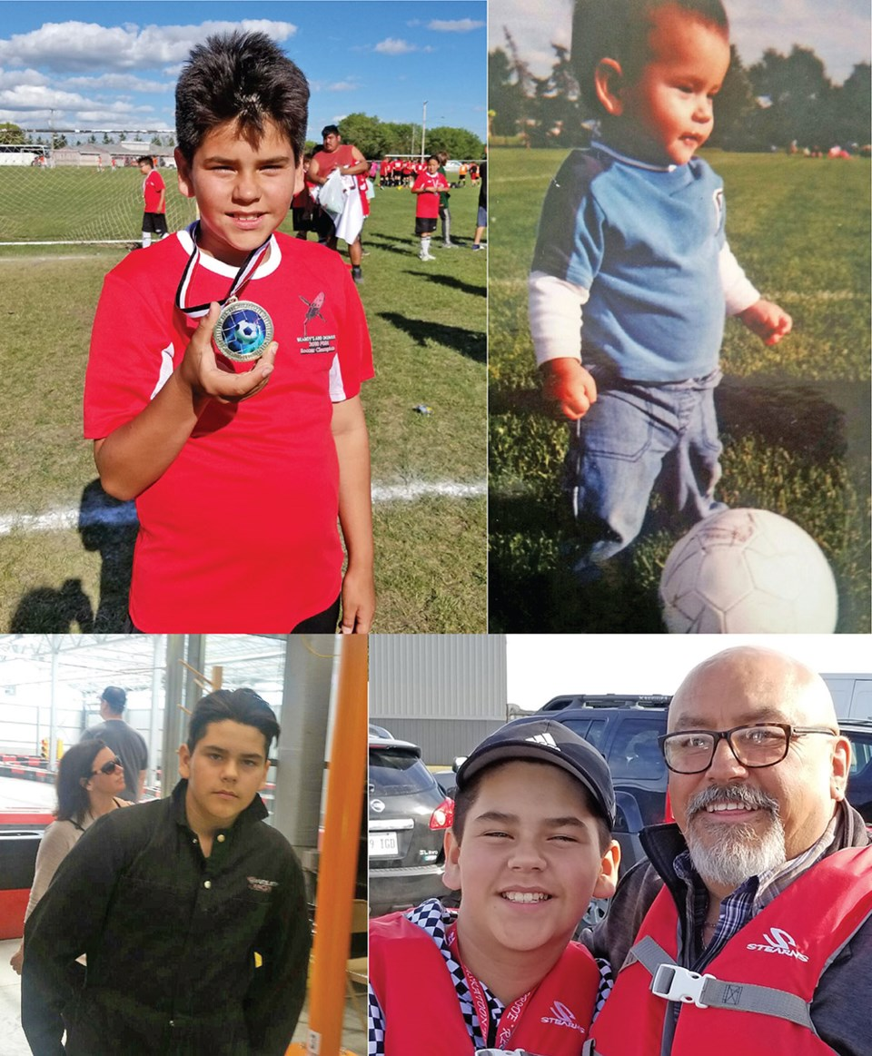 Wade Favel, a young soccer player from Poundmaker First Nation, recently competed at the Saskatoon W