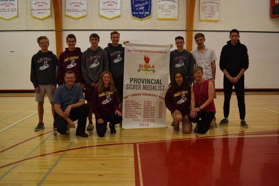 CCS cross-country team receives provincial banner