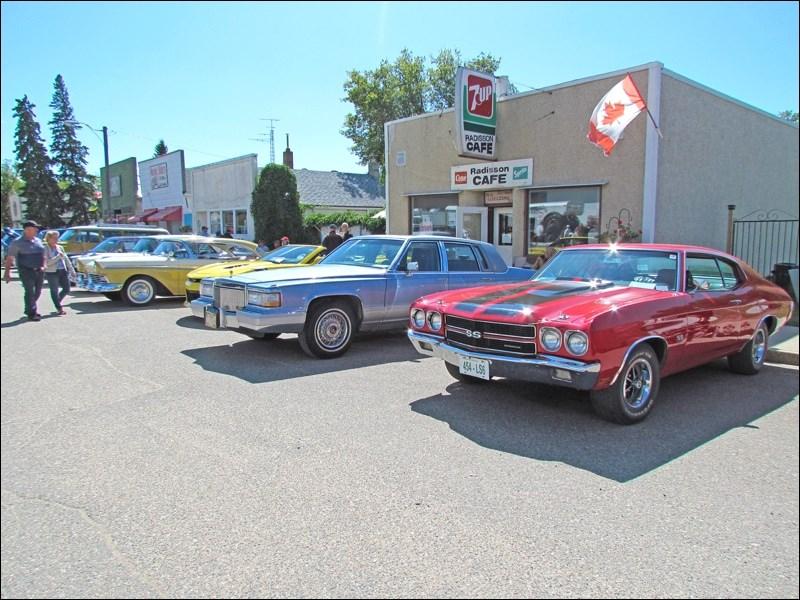 Radisson Show and Shine July 28. Classic cars on display.