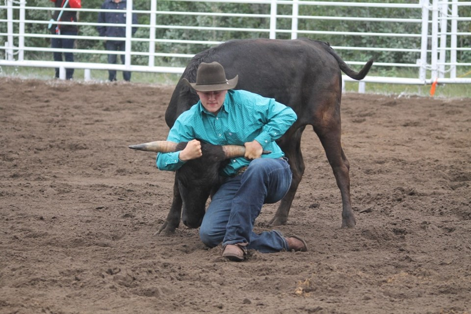 Carrot River's Outback Rodeo returned on Aug. 17 and 18 with bull riding, roping, rodeo clowning around and more cowfolk activities. Photo by Jessica R. Durling