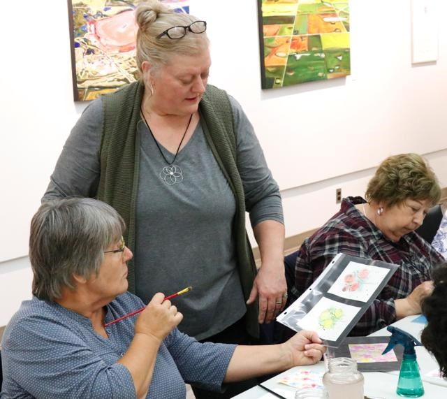 Library painting class