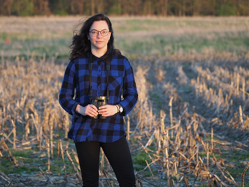 Margaret Eng in the field. Photo courtesy of Usask