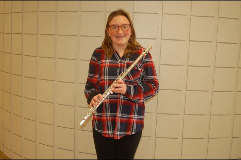 Jillian Newton a Preeceville Grade 10 student has been playing the flute for the past five years and has achieved many awards and accomplishments through her short career.