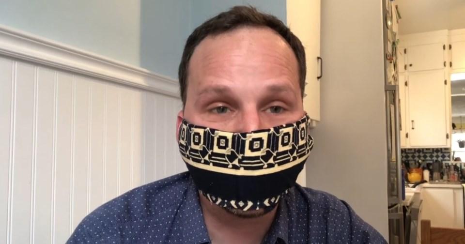 Ryan Meili with Mask