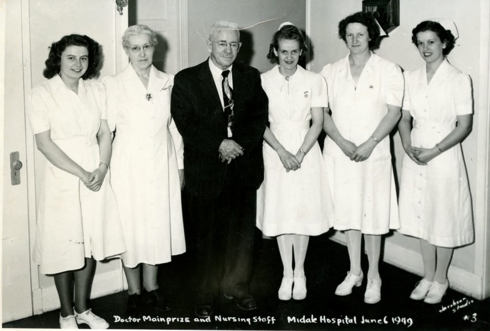 Dr. William Mainprize and the staff from his clinic. Photo submitted