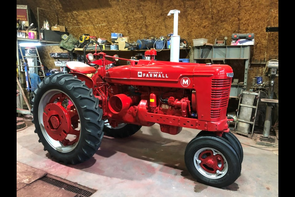 The tractor looks great now that it has been fully restored. Photo submitted
