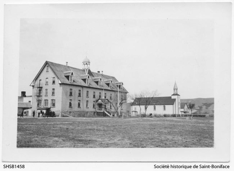 Marieval Residential School. Photo from the Archives of the Historical Society of St. Boniface