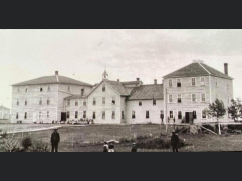 The former St. Henri Indian Residential School (Thunderchild) near Delmas.
