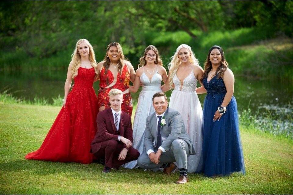 Sturgis Composite School's Class of 2021 enjoyed their graduation at the Sturgis Park on June 18. Members of the graduating class, from left, were: (back row) Tiara Yagelniski, Eloisa Vicente, Sydney Fey, Jillian Tonn and Dylan Tomas; and (front) Wyatt Anaka and Shae Peterson. -Photograph courtesy of Canora Photography and Framing.