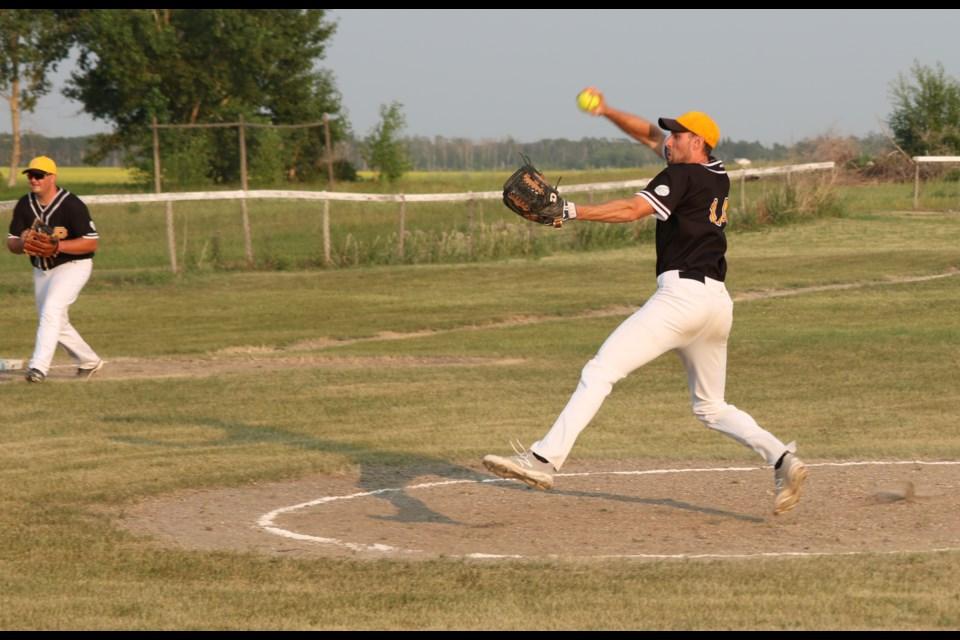 Neudorf pitcher Drew Hoehn