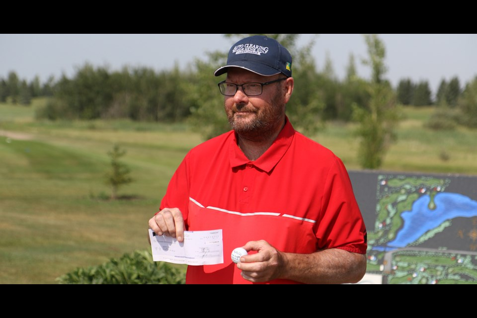 Murray Lees, a Humboldt resident, got a hole in one during the Auto Clearing Senior Men's Championship in Saskatoon in late June. He chatted to the Humboldt Journal about his win at the Humboldt Golf Club on July 22. Photo by Devan C. Tasa