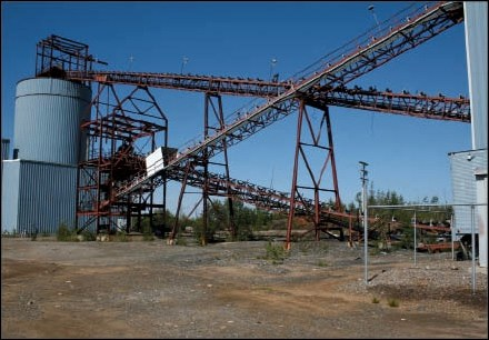 More than 25 years after its closure, infrastructure remains at the former Puffy Lake mine, now known as the Maverick Gold Project, near Sherridon.