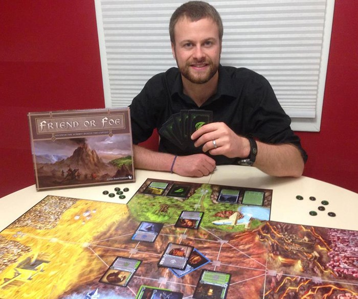 Friend of Foe took nearly a decade to go from idea to finished game for Churchbridge designer Rob Gosselin