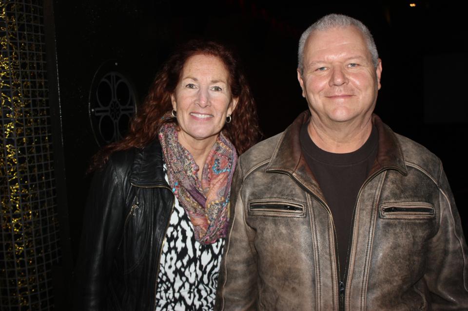 Locomotives of Bienfait director William Fraser, right, and his wife, Heather MacKenzie, were please