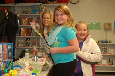 Preeceville School students who attended the book fair held at the Preeceville School's library from November 21 to November 23, from left, were: Payton Sorgen, Abigail Snider and Shayla Roelens.