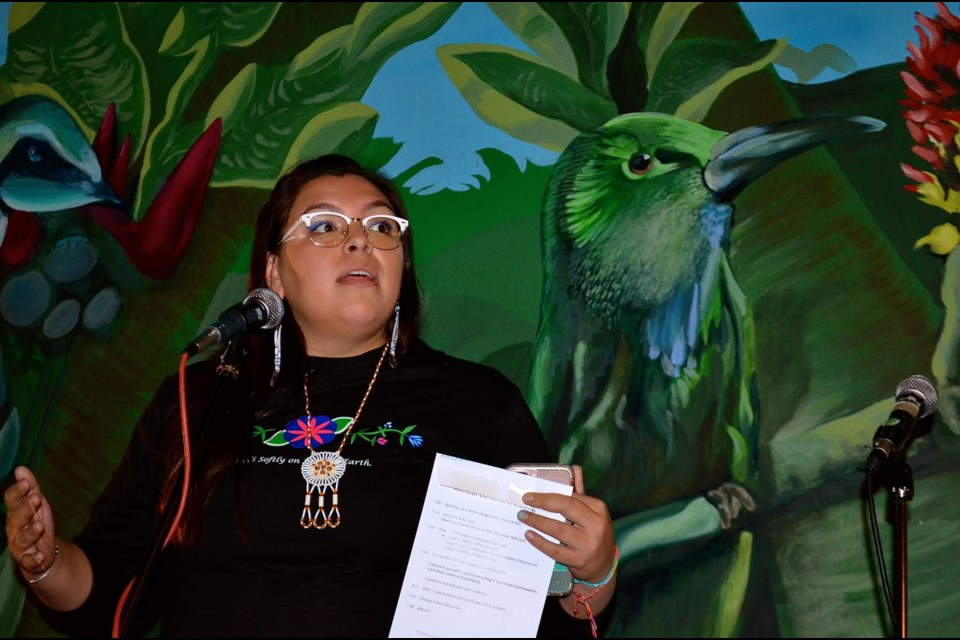 Indigenous rights activist Eryn Wise recounts her experiences protesting the Dakota Access Pipeline at Standing Rock.  Troy Bridgeman for GuelphToday.com