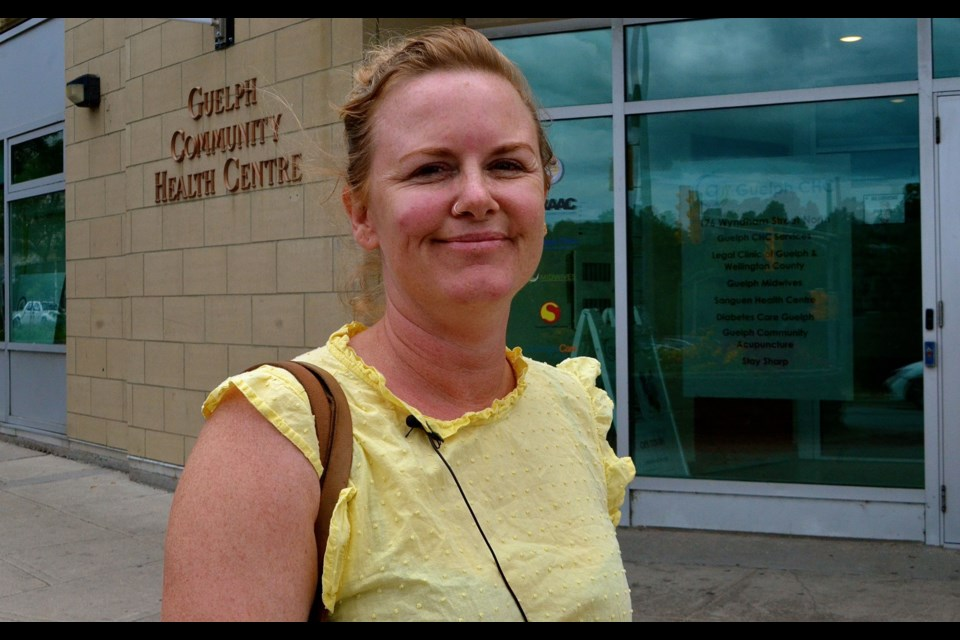 Downtown peer outreach worker Julie Porter outside the Guelph Community Health Centre.  Troy Bridgeman for GuelphToday.com