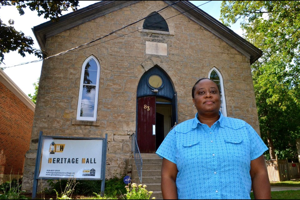 Denise Francis from the Guelph Black Heritage Society outside Heritage Hall on Essex Street. Troy Bridgeman for GuelphToday.com