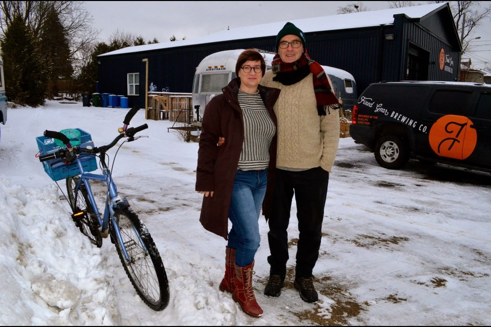 Laura Brown and Mike Darmon from GCAT are holding an workshop on winter cycling at Fixed Gear Brewing Dec 12. Troy Bridgeman for GuelphToday.com