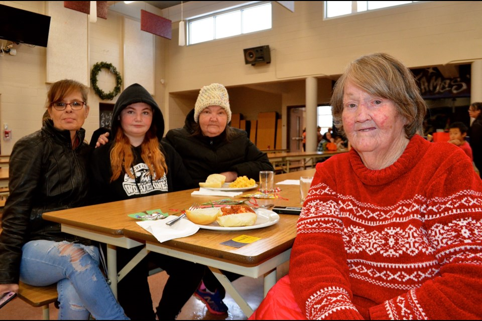 Gayle Brown with her daughter-in-law Sherri Henderson, granddaughter Willow Brown and daughter Georgina Brown has been attending the children's Christmas party for three generations. Troy Bridgeman GuelphToday.com