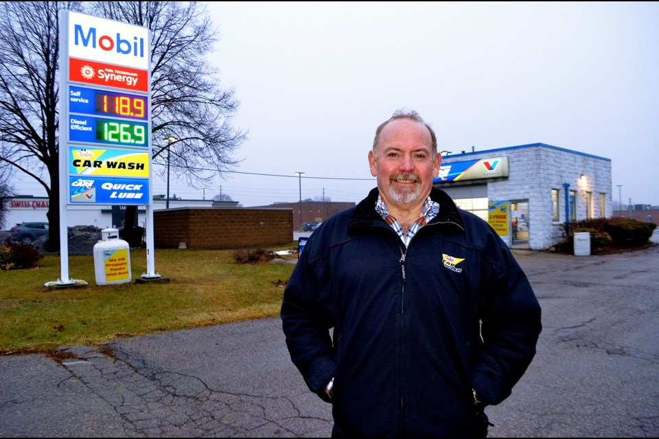 Mike Black vice president of licensing for Valet Car Wash at the newly branded Mobil service station at the corner of Edinburgh and Woodlawn Roads. Troy Bridgeman  GuelphToday.com