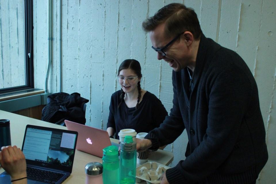 Professor Daniel Gillis delivers an order. Anam Khan/GuelphToday