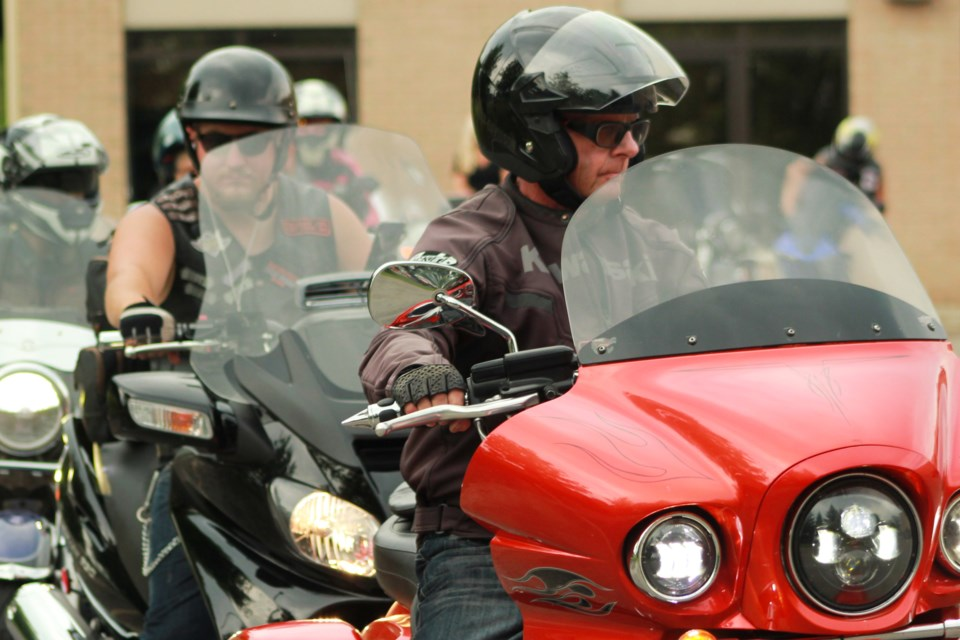 Motorcyclists get ready for the ride. Anam Khan/GuelphToday