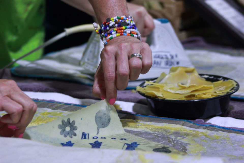 Workshop teaching individuals how to create a Beeswax wrap. Anam Khan/GuelphToday