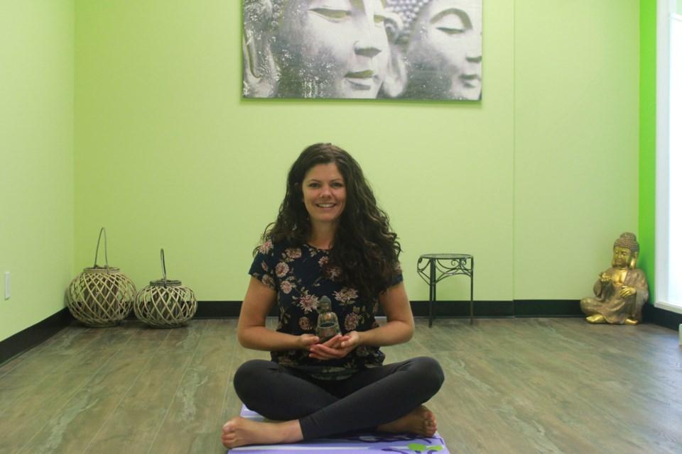 Mairin Da Maren sits in the yogo studio. Anam Khan/GuelphToday