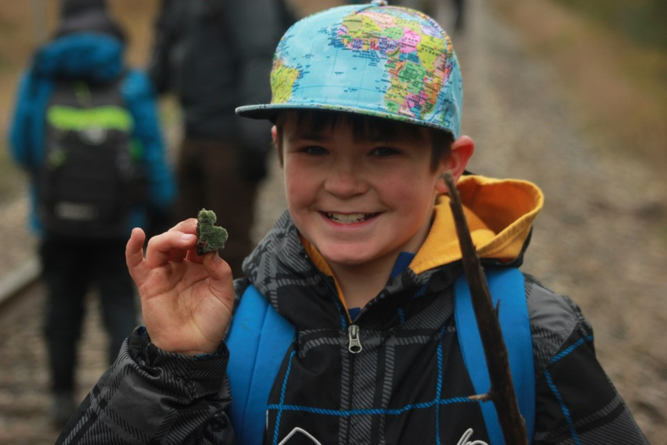 Jamie Taylor smiles for the camera at the Guelph Outdoor School. Anam Khan/GuelphToday