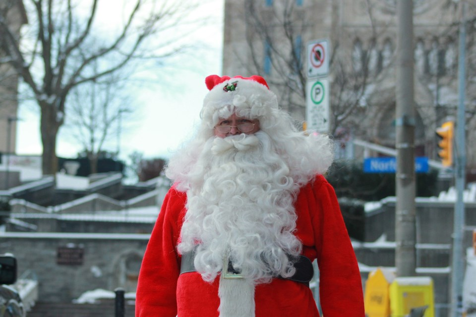 Santa Claus has landed in Guelph. Anam Khan/Guelph