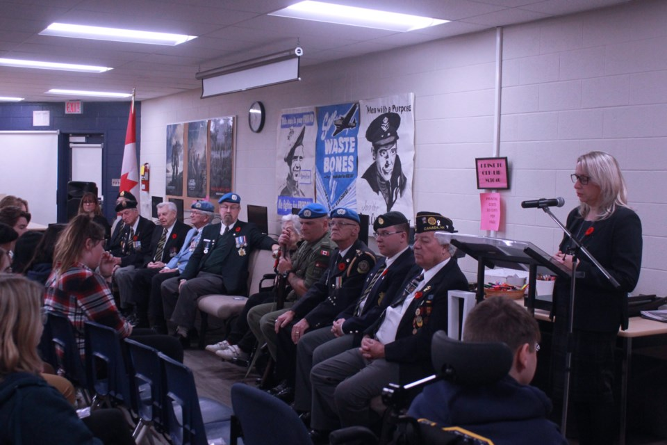 10 Veterans gather to share their stories with students at the Annual Guelph Veterans Panel. Anam Khan/GuelphToday
