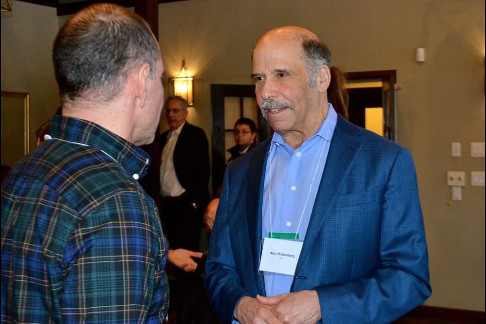 GAAP donor Alan Rottenberg talks with a potential student employer. Troy Bridgeman GuelphToday.com