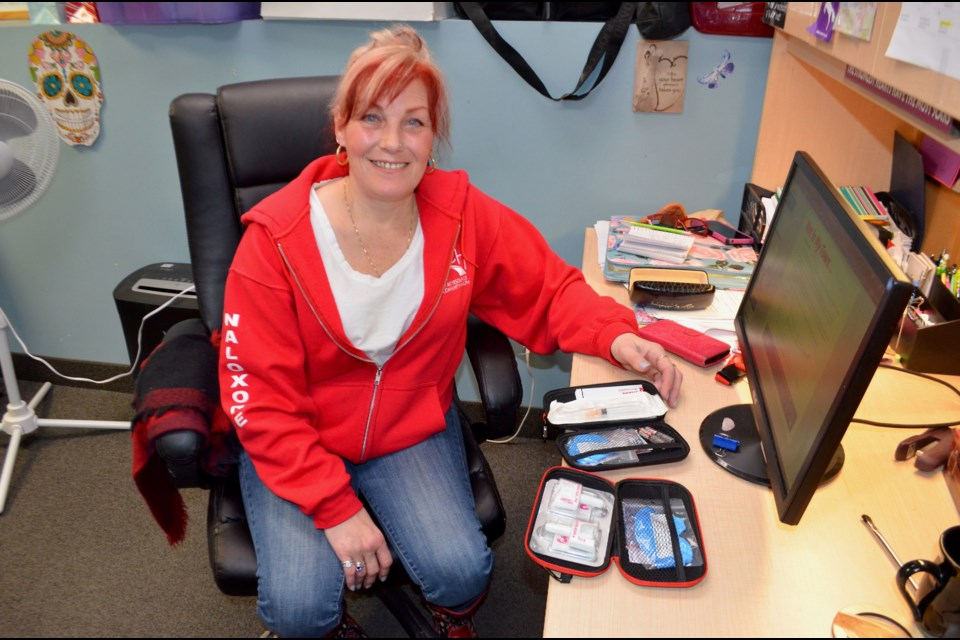 Karen Lomax from ARCH at her office in the Guelph Community Health Centre. Troy Bridgeman/GuelphToday
