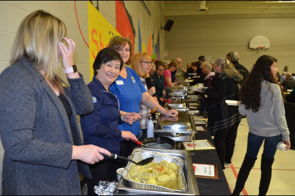 Volunteers were happy to serve during the Shelldale Family Gateway Winter Warm-Up lunch fundraiser. Troy Bridgeman/GuelphToday