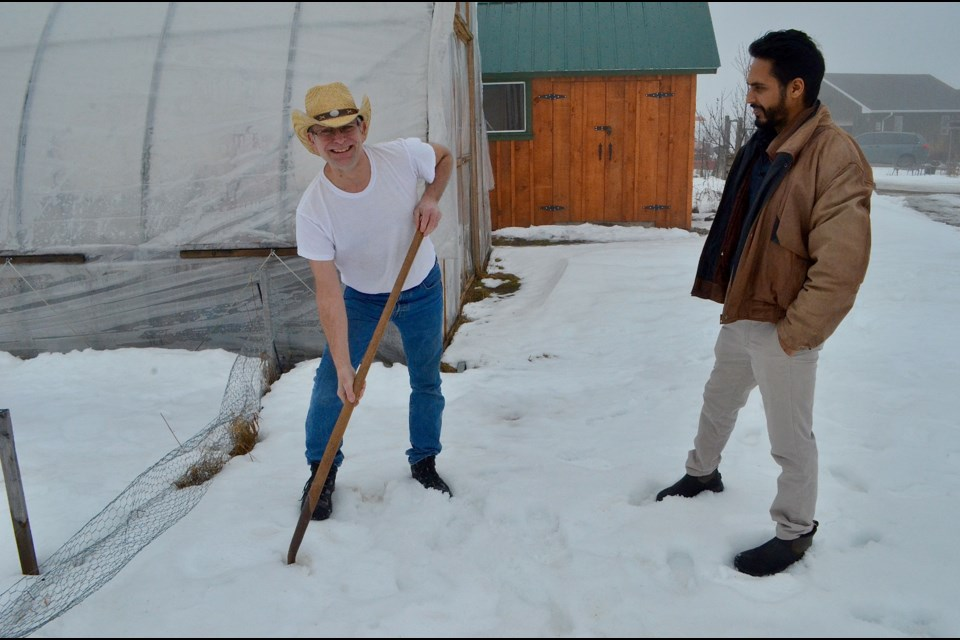 Steve Tedesco and Varinder Singh are still eager to start planting despite having to cancel the Resilience Festival this year.  Troy Bridgeman/GuelphToday