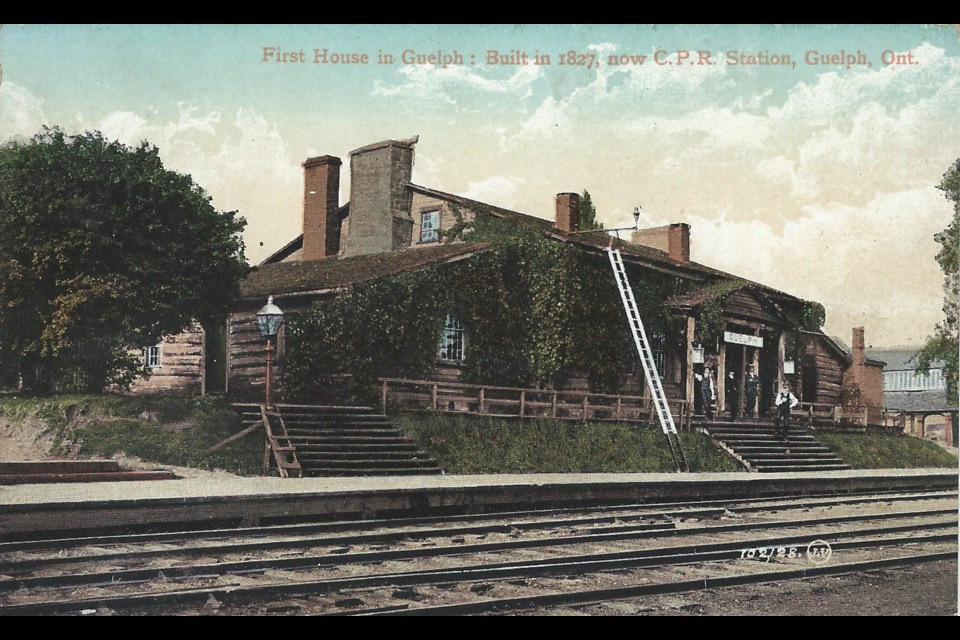 A postcard of The Priory from 1908 when it was still being used as CPR train station. photo courtesy Cameron Shelley