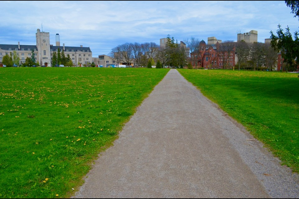 The path through Johnston Green named after William Johnston the founder of the Ontario Agricultural College. Troy Bridgeman/GuelphToday