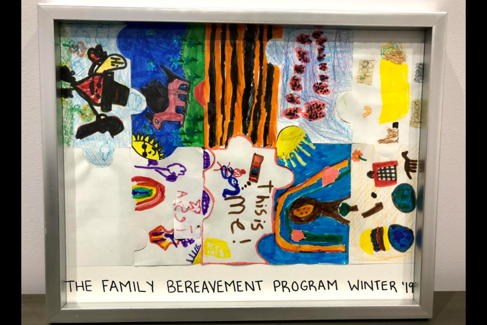 Artwork from children in the Family Bereavement program in the winter of 2019. Supplied photo