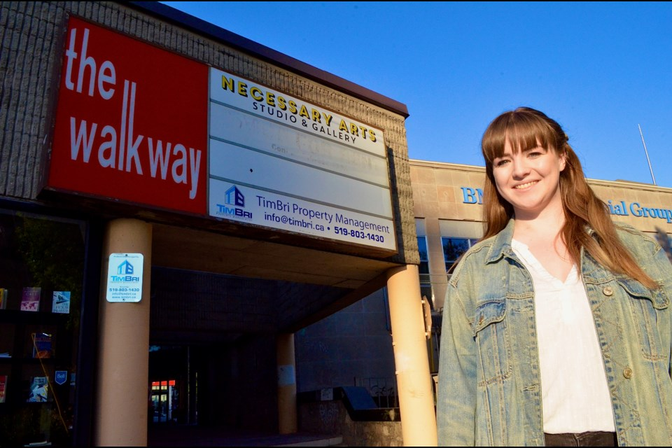 Artist Chanel DesRoches is eager to put her post-pandemic plans into action at Necessary Arts. Troy Bridgeman/GuelphToday