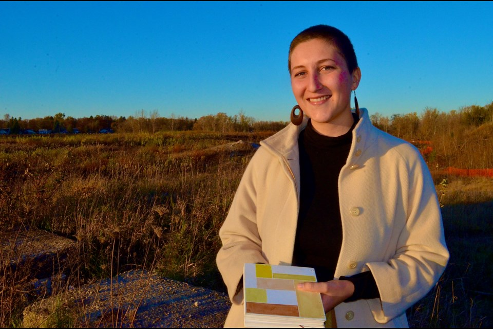 Guelph musician and artist Anita Cazzola has launched the Botanical Reclamation project to illustrate the value of preserving wild plants at the former Lafarge gravel quarry.  Troy Bridgeman for GuelphToday